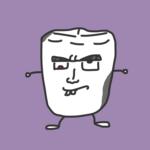 悪い顔の虫歯マン